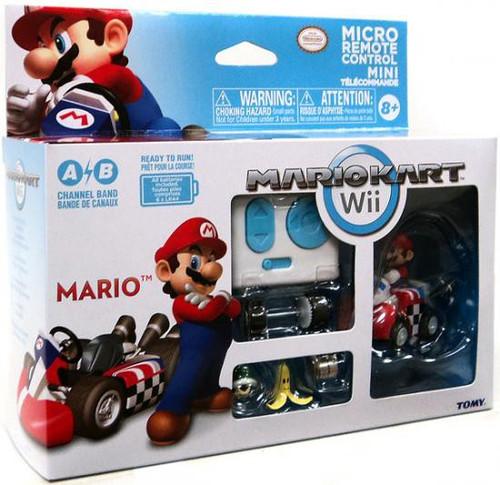 Super Mario Mario Kart Wii Micro Remote Control Tomy Mario R/C Vehicle