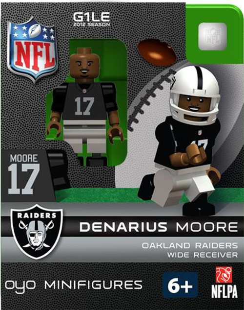 Oakland Raiders NFL Generation 1 2012 Season Denarius Moore Minifigure