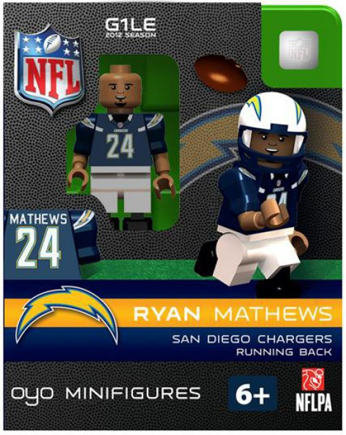 San Diego Chargers NFL Generation 1 2012 Season Ryan Mathews Minifigure