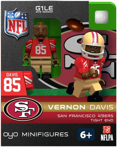 San Francisco 49ers NFL Generation 1 2012 Season Vernon Davis Minifigure