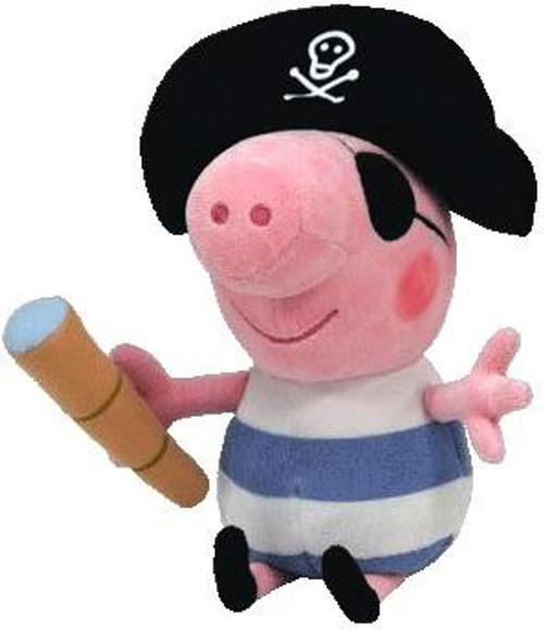 Beanie Babies Peppa Pig Pirate George the Pig Exclusive Beanie Baby Plush