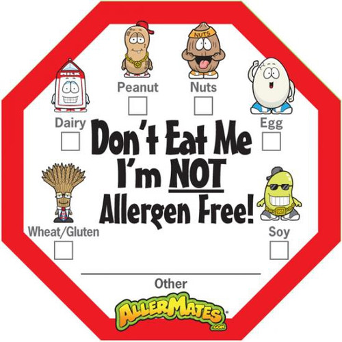AllerMates Allergen Alert Labels [24 Pack]