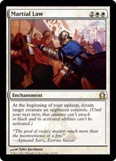MtG Return to Ravnica Rare Martial Law #14