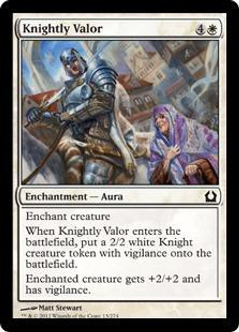 MtG Return to Ravnica Common Knightly Valor #13