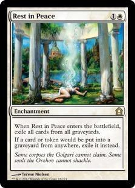 MtG Return to Ravnica Rare Rest in Peace #18