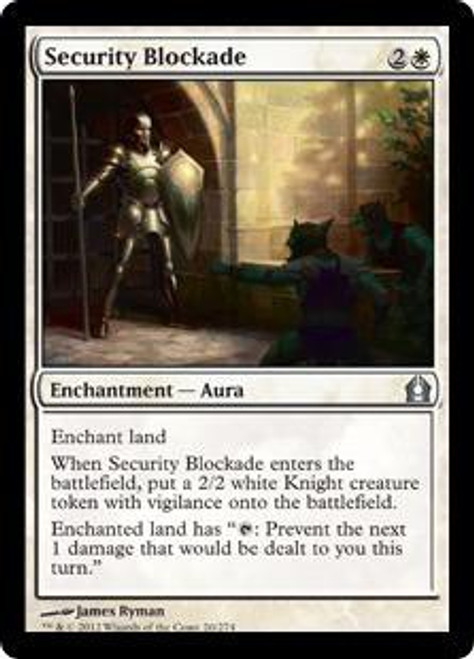 MtG Return to Ravnica Uncommon Security Blockade #20