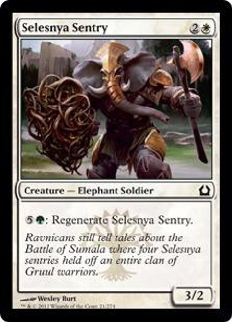 MtG Return to Ravnica Common Selesnya Sentry #21