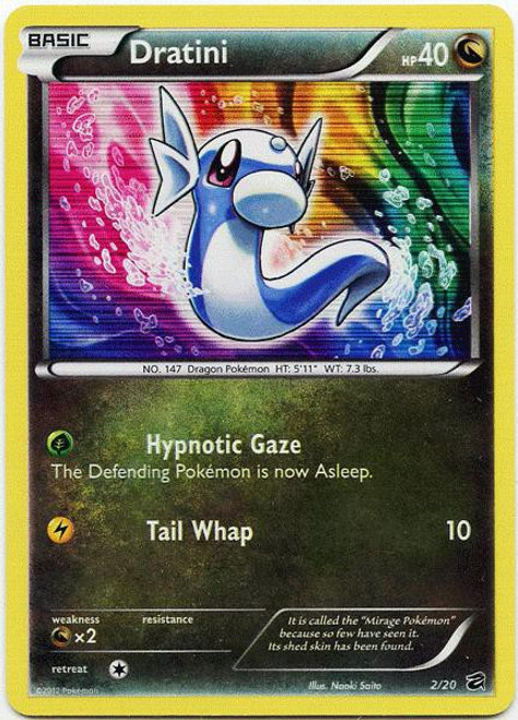 Pokemon Trading Card Game Dragon Vault Rare Holo Dratini #2