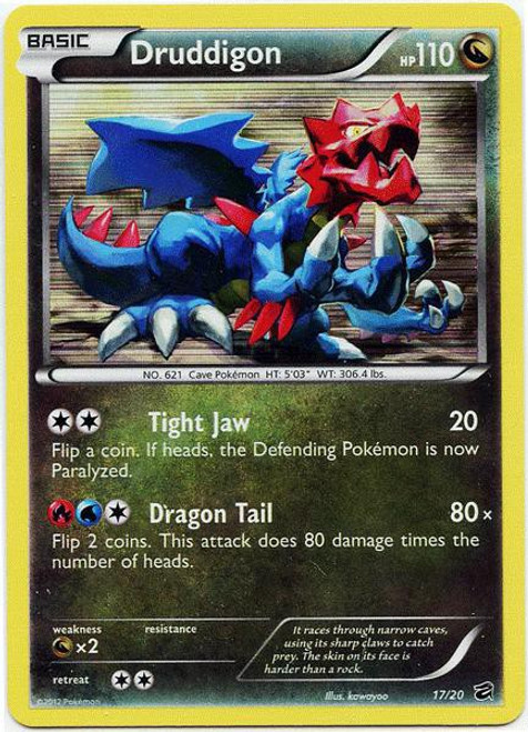 Pokemon Trading Card Game Dragon Vault Rare Holo Druddigon #17