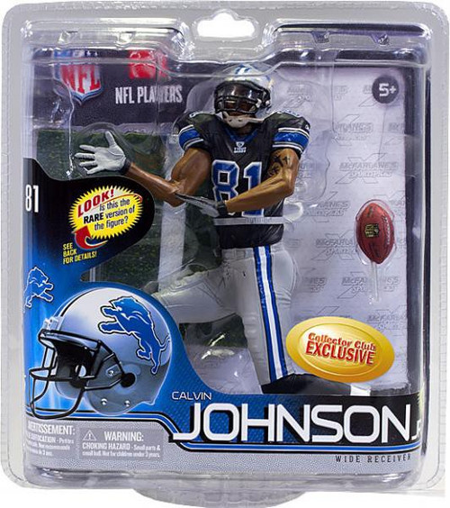 McFarlane Toys NFL Detroit Lions Sports Picks Series 30 Calvin Johnson Exclusive Action Figure [Black Jersey]