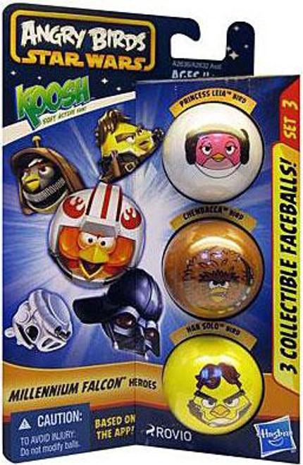 Star Wars Angry Birds Koosh Millennium Falcon Heroes Balls Set 3