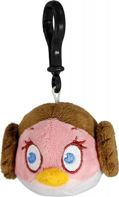 Star Wars Angry Birds Princess Leia Bird Plush Clip On