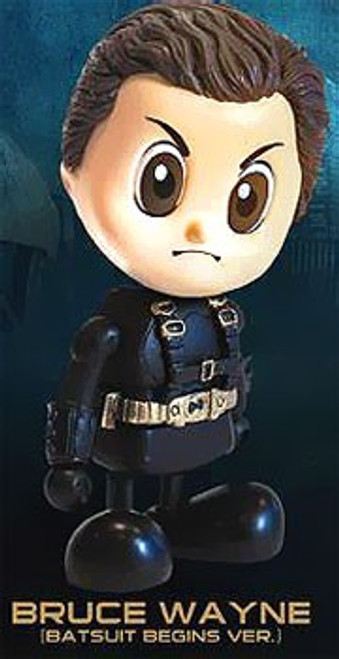 Batman Begins Cosbaby Bruce Wayne 3-Inch Mini Figure [Batsuit Begins Version]