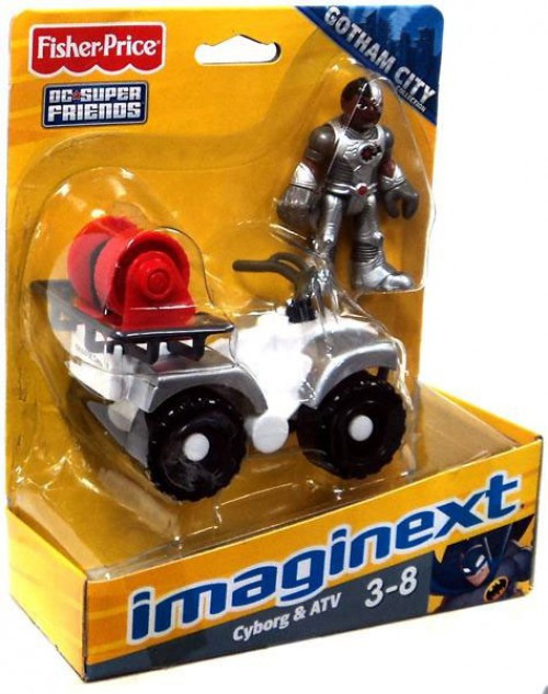 Fisher Price DC Super Friends Imaginext Gotham City Cyborg & ATV Exclusive 3-Inch Figure Set