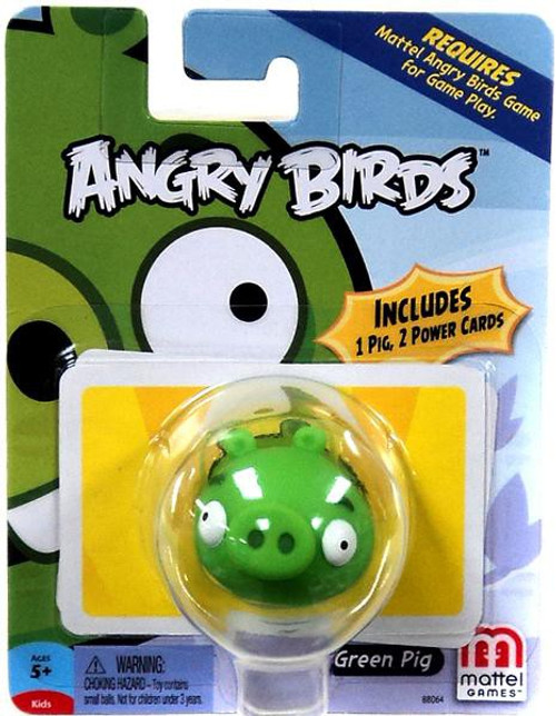 Mattel Angry Birds Game Green Pig Mini Figure