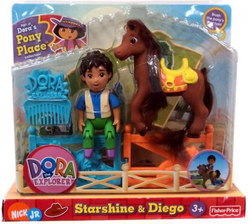 Fisher Price Dora the Explorer Dora's Pony Palace Collection Starshine & Diego Figure Pack