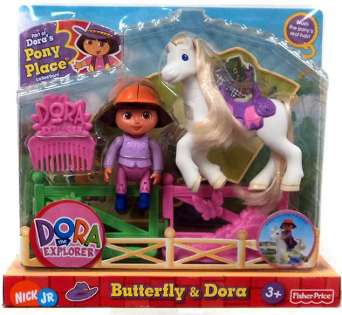 Fisher Price Dora the Explorer Dora's Pony Palace Collection Butterfly & Dora Figure Pack