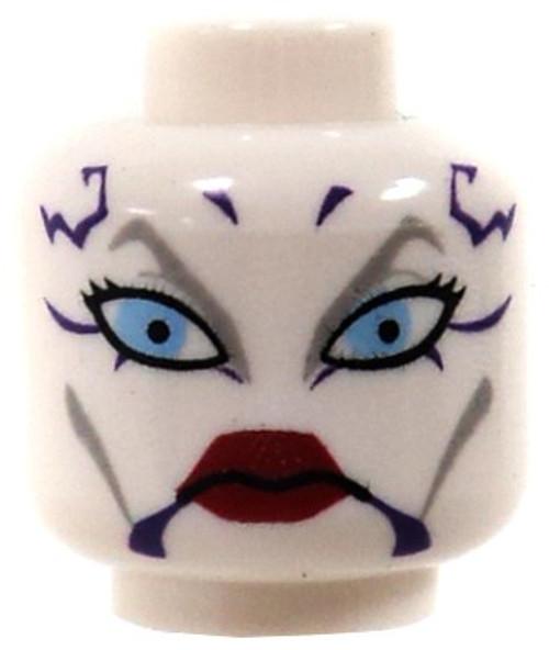 Star Wars White Female Head with Blue Eyes & Purple Markings Minifigure Head [Loose]