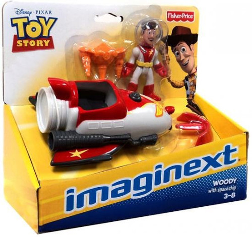 Fisher Price Disney / Pixar Imaginext Toy Story Woody with Spaceship Exclusive Figure Set