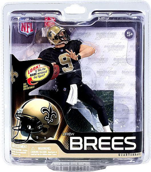 McFarlane Toys NFL New Orleans Saints Sports Picks Series 31 Drew Brees Action Figure [Black Jersey]
