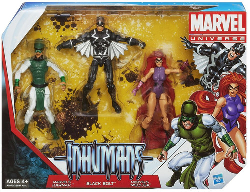 Marvel Universe Super Hero Team Packs The Inhumans Action Figure 3-Pack