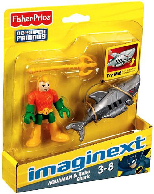 Fisher Price DC Super Friends Imaginext Aquaman & Robo Shark 3-Inch Mini Figure