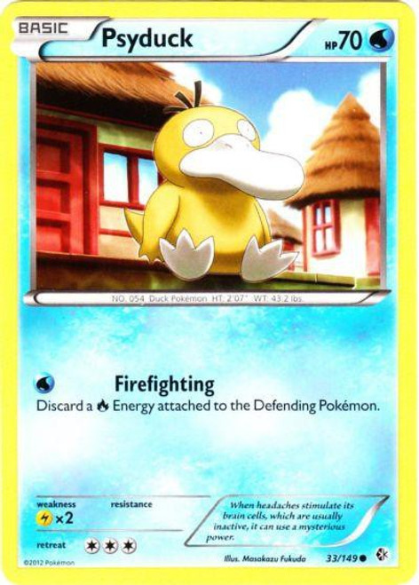 Pokemon Black & White Boundaries Crossed Common Psyduck #33