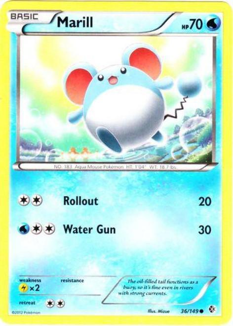 Pokemon Black & White Boundaries Crossed Common Marill #36