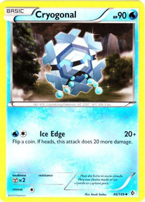 Pokemon Black & White Boundaries Crossed Uncommon Cryogonal #46