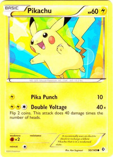 Pokemon Black & White Boundaries Crossed Common Pikachu #50