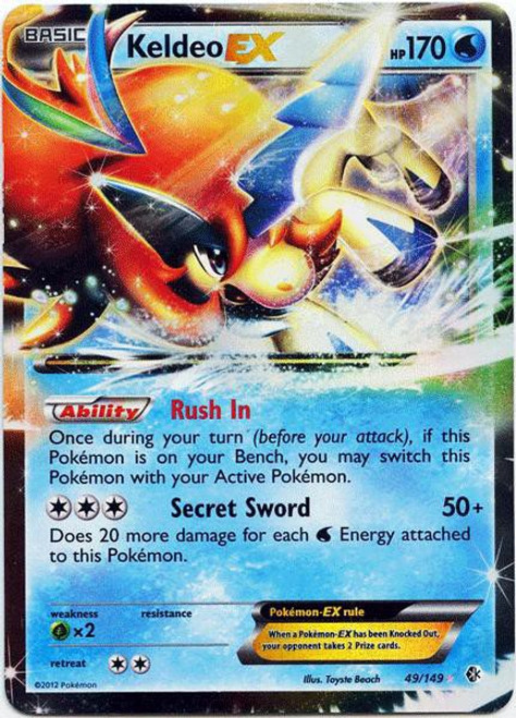 Pokemon Black & White Boundaries Crossed Ultra Rare Keldeo EX #49