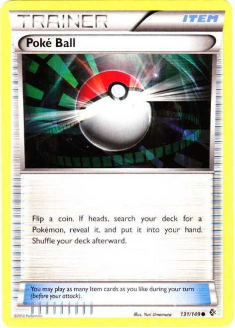 Pokemon Black & White Boundaries Crossed Common PokeBall #131