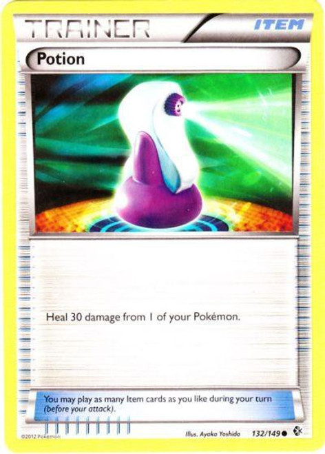 Pokemon Black & White Boundaries Crossed Common Potion #132