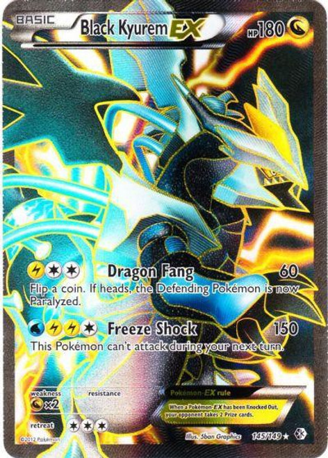 Pokemon Black & White Boundaries Crossed Ultra Rare Full Art Black Kyurem EX #145