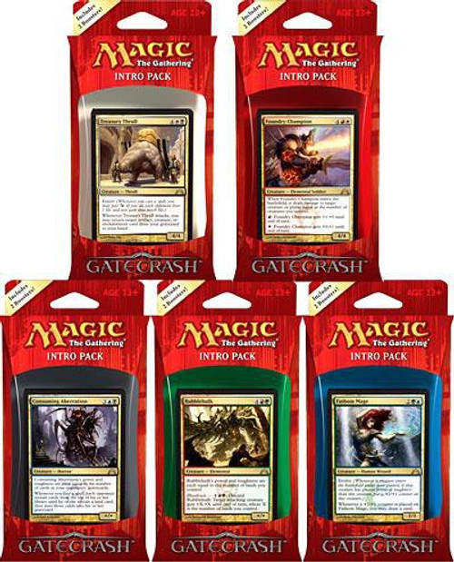 MtG Trading Card Game Gatecrash Set of 5 Intro Packs