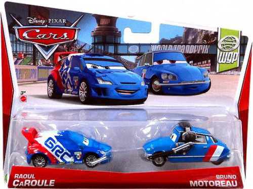 Disney / Pixar Cars Series 3 Raoul Caroule & Bruno Motoreau Diecast Car 2-Pack