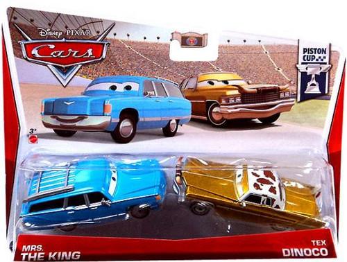 Disney / Pixar Cars Series 3 Mrs. The King & Tex Dinoco Diecast Car 2-Pack