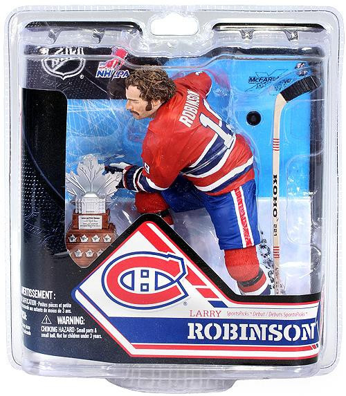 McFarlane Toys NHL Montreal Canadiens Sports Picks Series 32 Larry Robinson Action Figure [With Trophy]