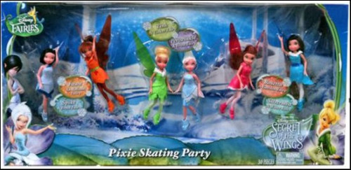 Disney Fairies Secret of the Wings Pixie Skating Party Exclusive 4.5-Inch Figure Set