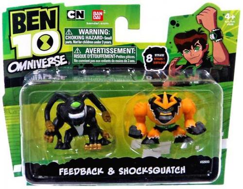 Ben 10 Omniverse Feedback & Shocksquatch 2-Inch Mini Figure 2-Pack