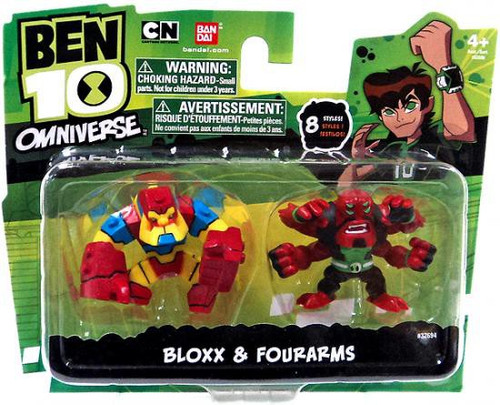Ben 10 Omniverse Bloxx & Four Arms 2-Inch Mini Figure 2-Pack