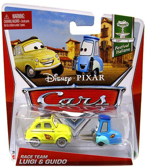 Disney / Pixar Cars Series 3 Race Team Luigi & Guido Diecast Car 2-Pack