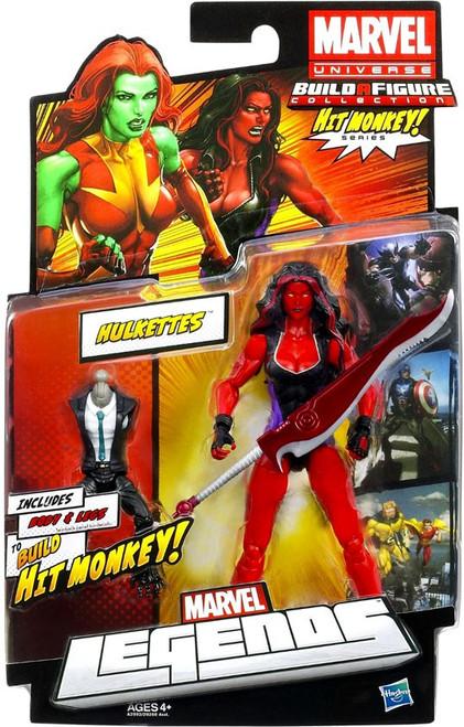 Marvel Legends Hit Monkey Series Red She Hulk Action Figure