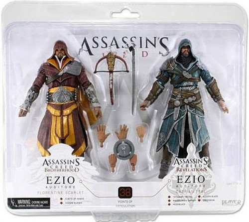 NECA Assassin's Creed Brotherhood Ezio Exclusive Action Figure 2-Pack [Florentine Scarlet & Caspian Teal]