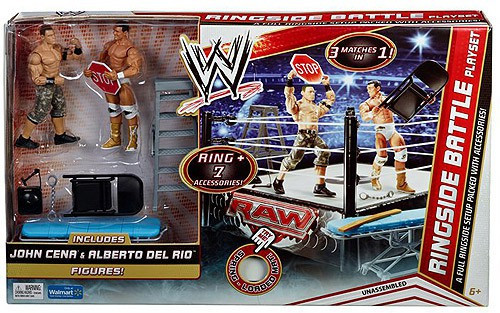 WWE Wrestling Ringside Battle Exclusive Action Figure Playset [John Cena & Alberto Del Rio]