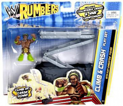 WWE Wrestling Rumblers Series 2 Climb & Crash Mini Figure Playset [With Kofi Kingston]