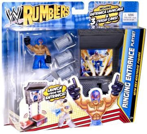 WWE Wrestling Rumblers Series 2 Ringing Entrance Mini Figure Playset [With Rey Mysterio]