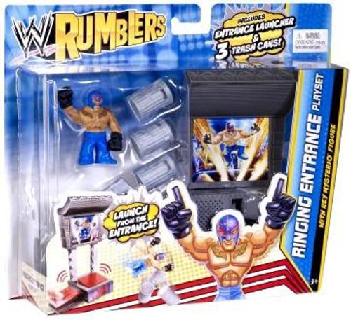 WWE Wrestling Rumblers Series 2 Ringing Entrance Mini Figure Playset [With Rey Mysterio]