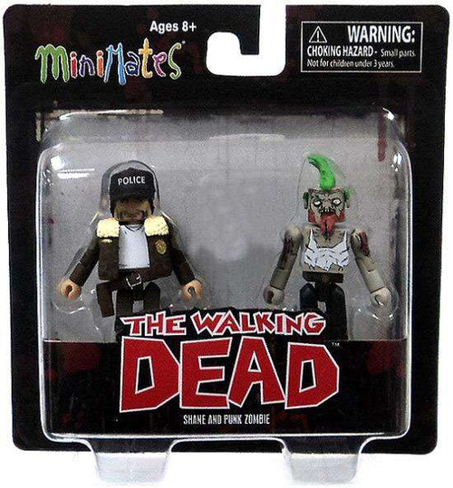 The Walking Dead Minimates Exclusives Shane & Punk Zombie Exclusive Minifigure 2-Pack