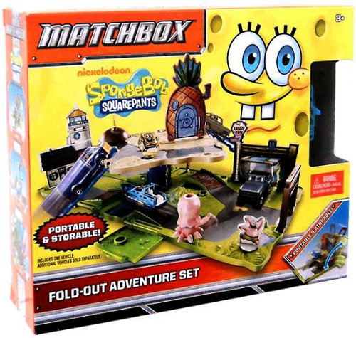 Spongebob Squarepants Matchbox Fold-out Adventure Set Playset